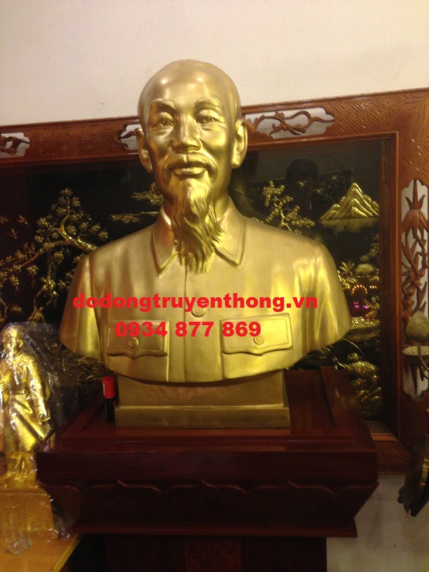 tượng bán tahn6 bác hồ đồng đỏ cao 70 cm
