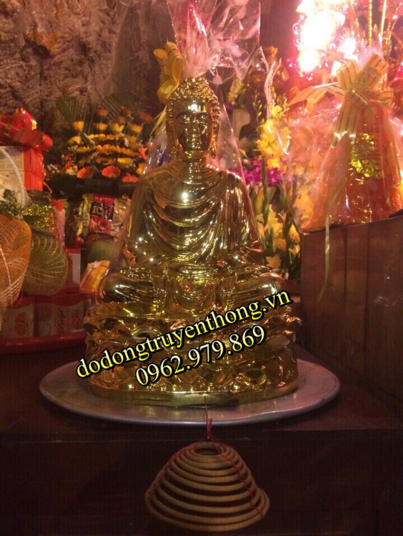 mạ vàng tượng phật cúng chùa