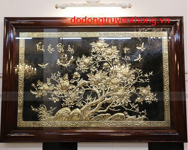 tranh vinh hoa phú quí mạ vàng