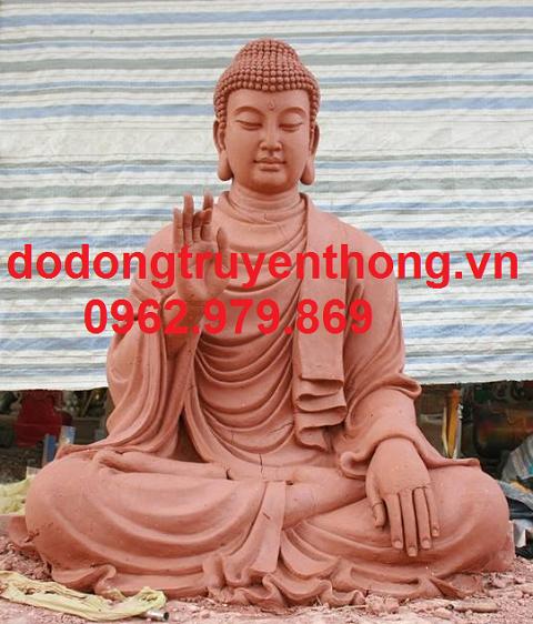mẫu tượng bổn sư bằng đất cao 2m