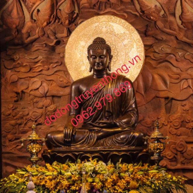 tượng bổn sư bằng đồng cao 1,5m