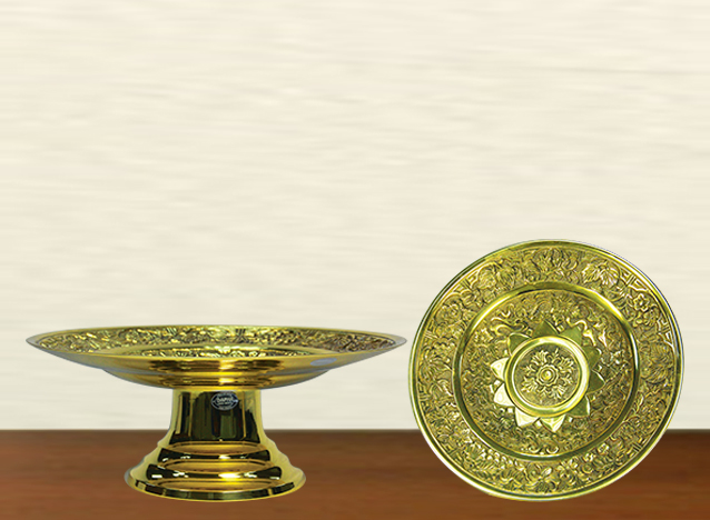đĩa hoa quả bằng đồng