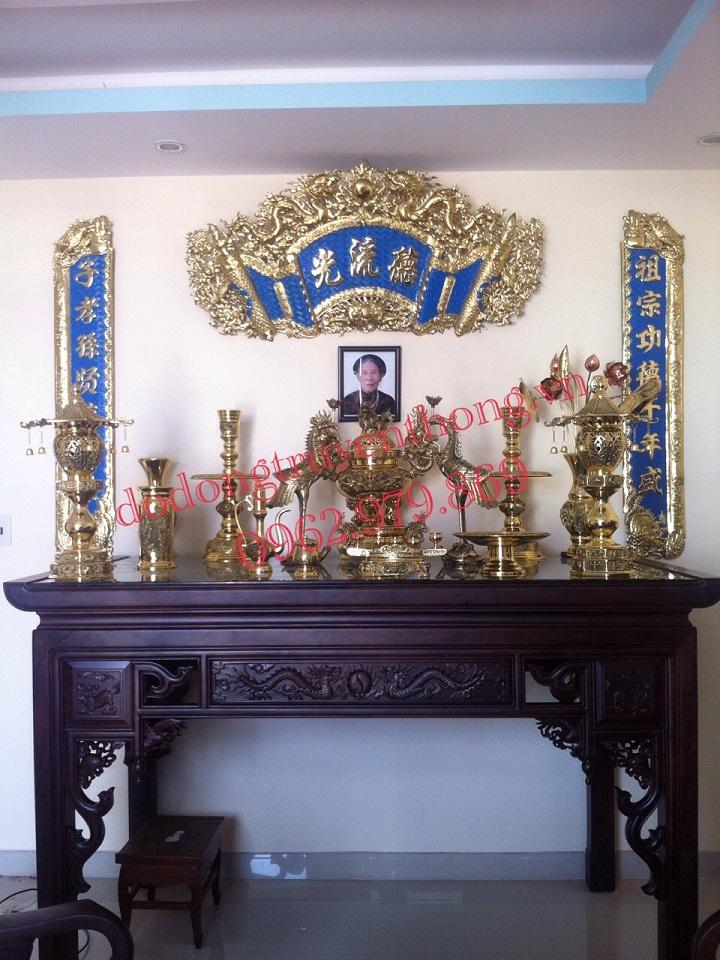 Ý nghĩa của bộ đồ thờ đại phát trên bàn thờ gia tiên