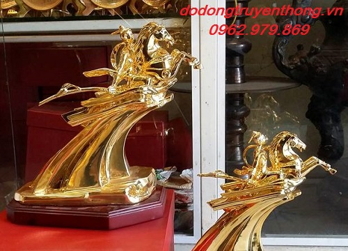 tượng thánh gióng dát vàng 24k
