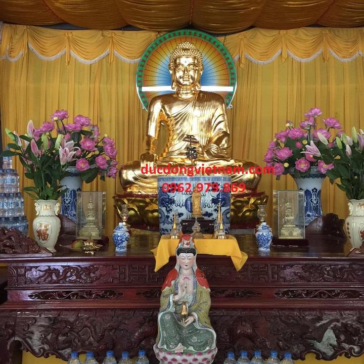 Nhận Dát vàng 24k tượng phật bổn sư Chất lượng