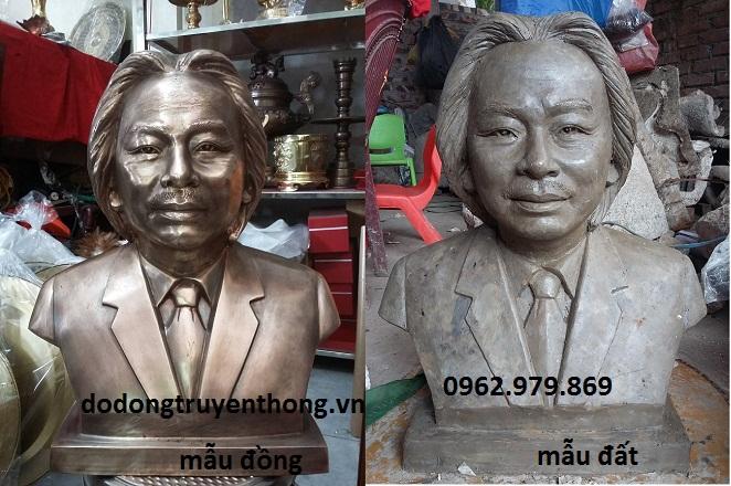 tượng chân dung bán thân bằng đồng