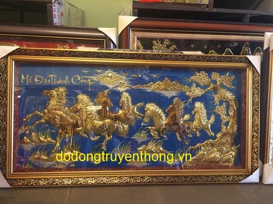 tranh đồng mạ vàng cao cấp tặng khách hàng thân thiết