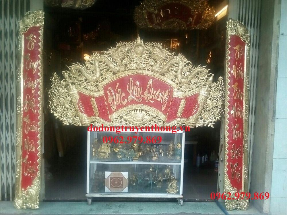 Bộ cuốn thư câu đối Đức Lưu Quang treo bàn thờ 1m9 5