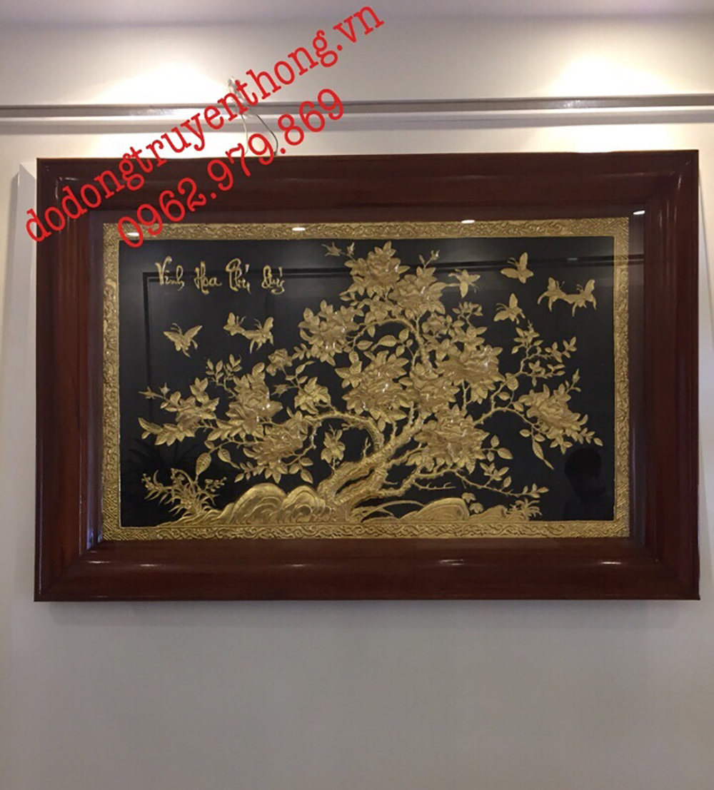nơi bán tranh dát vàng uy tín tại hà nội