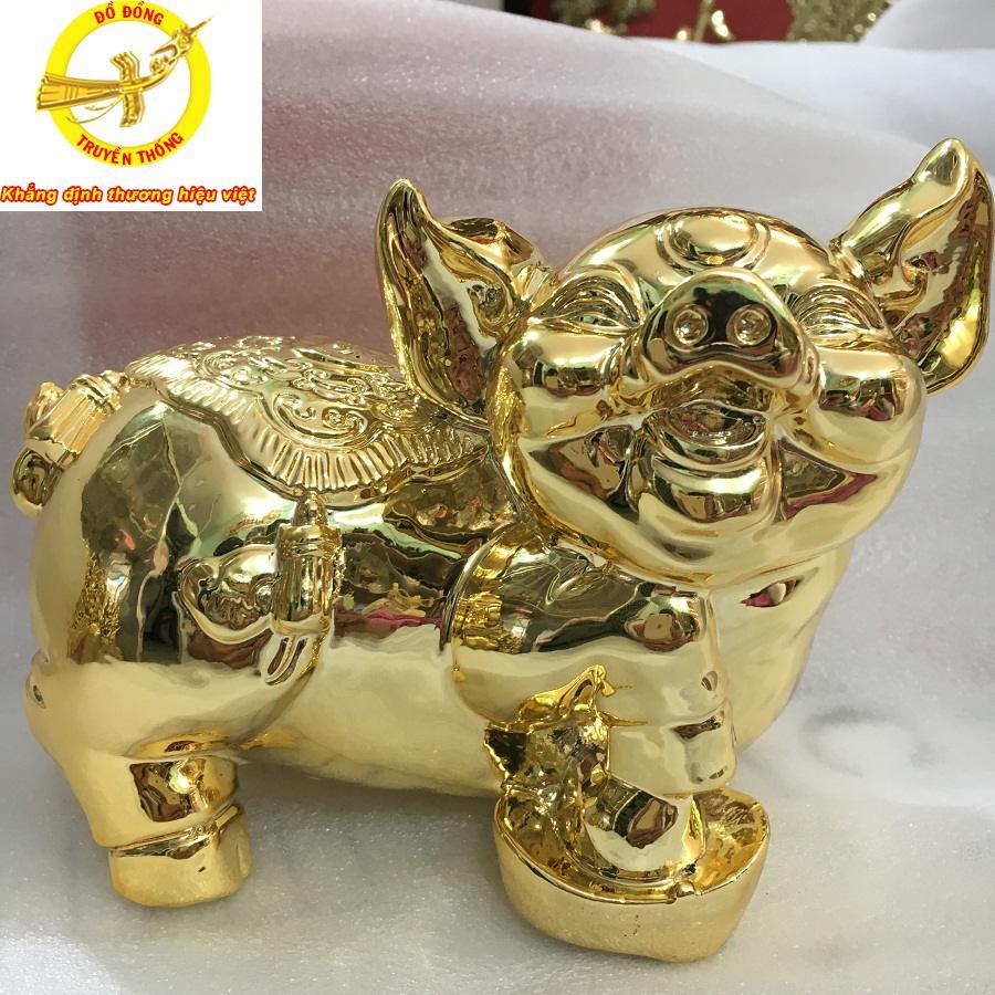 Tượng lợn mạ vàng 24 k quà tặng đặc biệt