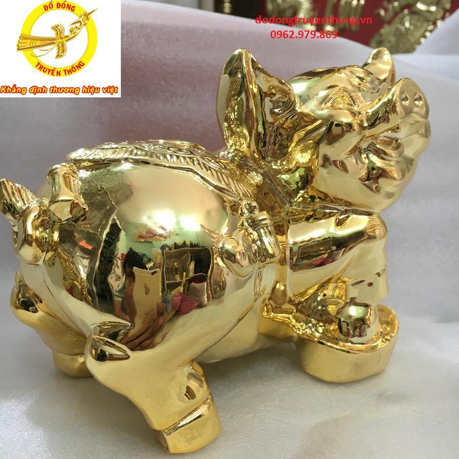 Cửa hàng bán tượng heo mạ vàng uy tín